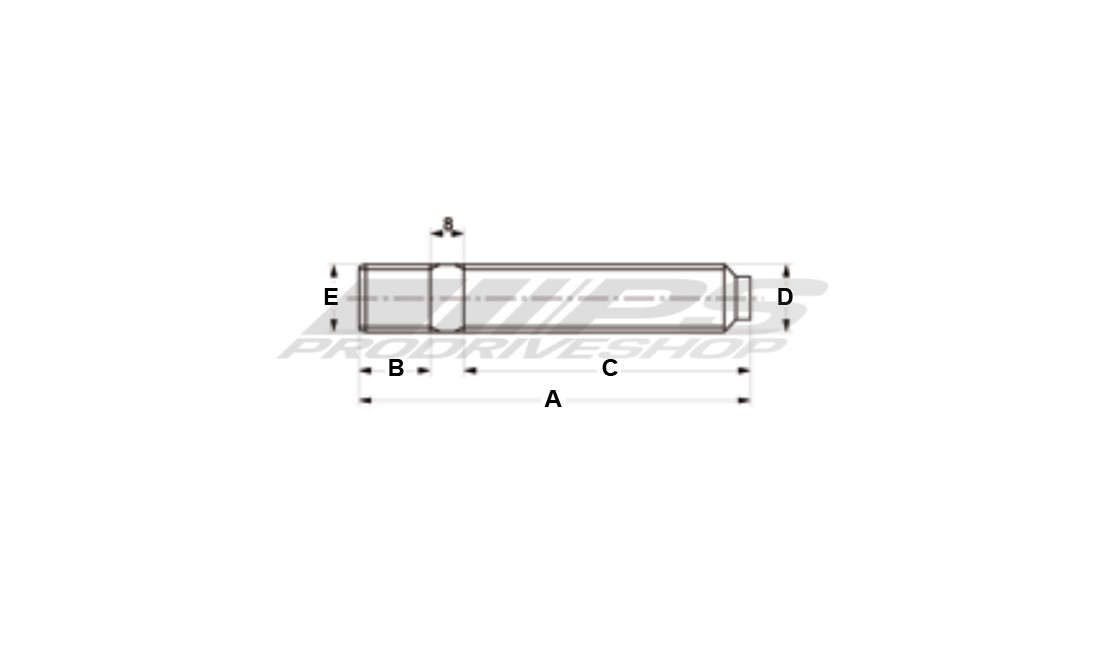 Colonnette ruota a doppia filettatura 12x1,50 lunghezza 100 mm.