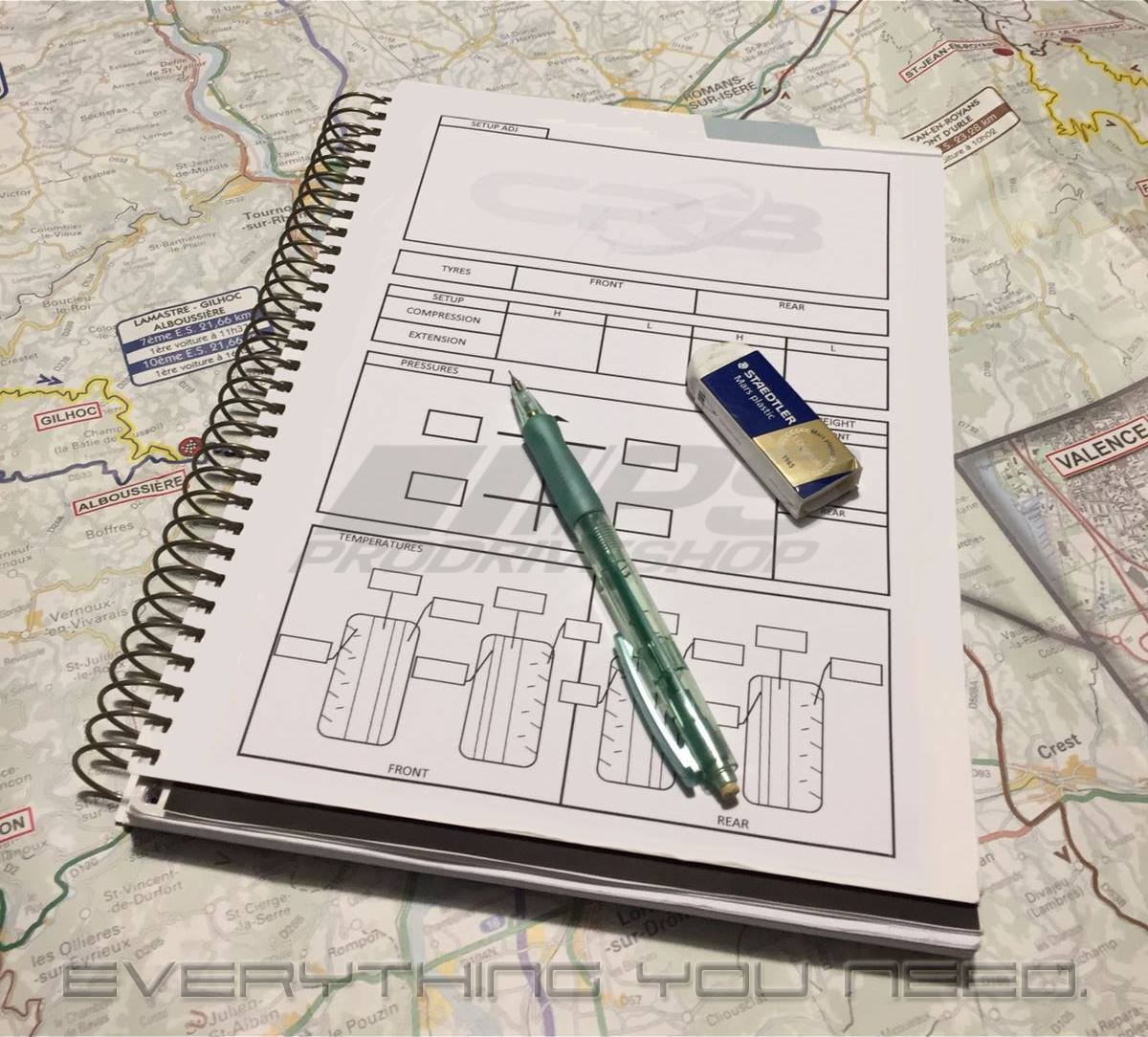 CRB CODRIVER RALLY BOOK