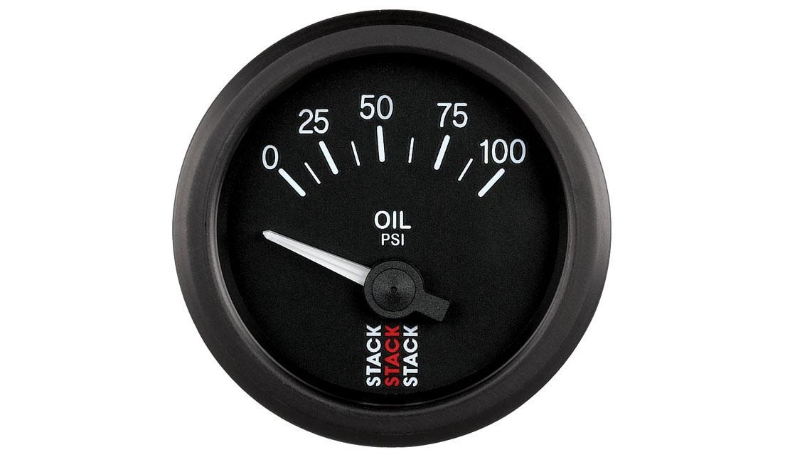Analogico elettrico Pressione Olio (Scala 0 - 100 psi)