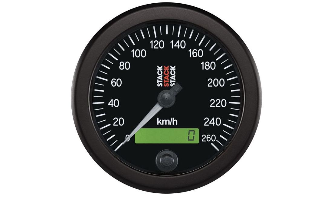 Tachimetro nero (Scala 0 - 260 Km/h)