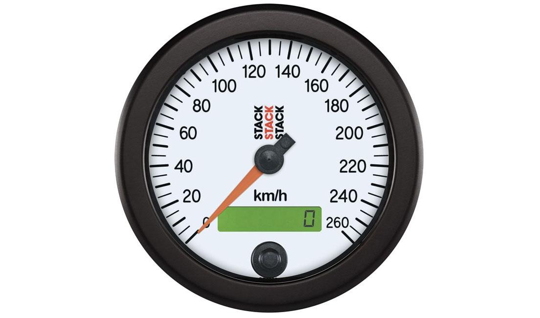 Tachimetro bianco (Scala 0 - 260 Km/h)