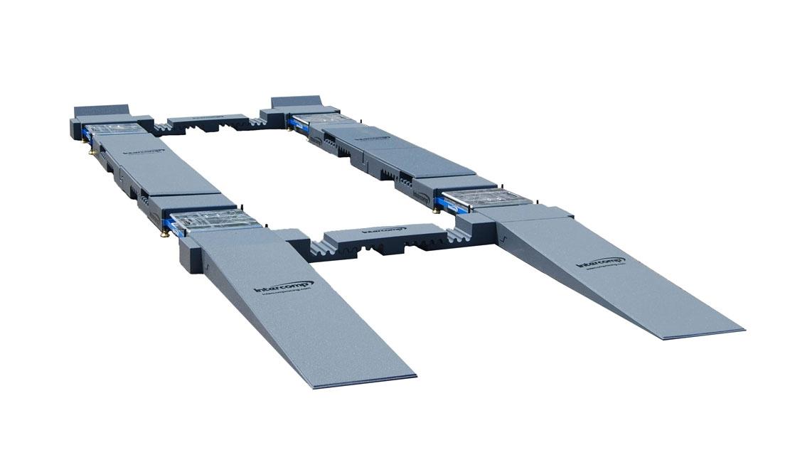 Sistema di rampe ad aggancio rapido per bilance (con livellatori)